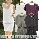 26 Jan New Arrival! [NEMO] Hot trendy Women Fashion/Mini Dress/Linen Dress One-Piece/Office look/Made in our own factory in KOREA