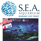 SEA AQUARIUM - RESORTS WORLD SENTOSA 海洋馆 Open Ticket. Use your coupon to get the best deal!