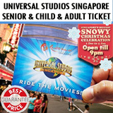 Universal Studio Singapore USS Open-Dated Ticket One day Pass 新加坡环球影城. with $5 Retail Voucher. Best Price! // Christmas Extended Hours till 9pm!