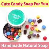 【★Candy Soap: Single Use Natural Soap★】100% Handmade Soap! Refresh Mind Everytime You Wash! So Cute Lovely Candy Soap