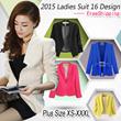 【Plus Size XS-XXXL】2015 Fashion Ladies Casual Jackets / / Ladies Suits/Blazers Free Shipping