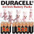  100% Original Duracell AA / AAA Batteries  4+2 / 8+4 Free Shipping Over $60~