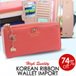 NEW ARRIVAL KOREAN RIBBON WALLET IMPORT TERMURAH 1ST HAND! HIGH QUALITY WITH SUPER LOW PRICE ★ ★ ★