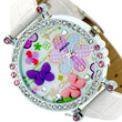 NEW Polymer Clay Crystal Leather Womens Quartz Dial Wrist Watch Fashion Fashion W377