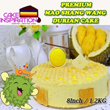 8 Inch/1.2Kg of The Best Durian Cake / Mao Shang Wang Durian Mousse with Belgium White Chocolate decoration and finally top with perfect Durian Macaron / Delivery Available !