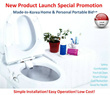 Korea Patent Non-electric Micro Smart Bidet Easy Installation Pressure Control Operation / Portable Personal Adult Children Women Baby Travel Outdoor Public Area Fits Backpack