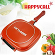 [Free Shipping]Wholesale Happycall Happy Call Fry pan Non-stick Pan Double Side Grill Fry Pan Free Shipping