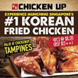 [CHICKEN UP] 40% OFF!!! 4 Pcs of Singapore #1 Korean Fried Chicken.Enjoy munching our delectable Soya Chicken Wings with GREAT SAVINGS. Follow our Qoo10 Store for even more exciting deals coming up.