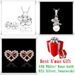 Best Xmas Gift: 18K White Gold/ Rose Gold/ 925 Silver/ Pearl Bracelets/ Necklaces/ Charms/ Sets Best Gifts!