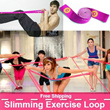 ★Korea Hit!★Slimming Elastic Band★Resistance Band★Yoga Pilate Exercise Stretch Loop for workout fitness and sports anywhere★Good Quality Band★
