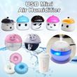Free Ship/ USB Mini Air Humidifier/ Touch mute Air Purifier/ Creative Cute Night Light Office