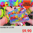 ▶Rainbow loom bracelet making kit◀/Refill band/Super fun rubber band bracelet making kit!! Band option is available/ Do it yourself!!