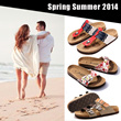[22/8 Update-100++STYLE]*LOWEST PRICE*2014 Unisex Casual Beach Sandals/Leather Bottom Cork Slippers/Lovers Couple Shoes