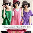 (18/4 Update)【BUY 2 FREE SHIPPING】2014 Spring Summer Womens Fashion Linen Cotton Dress/pants/shirt-Japan 150 Styles High Quality
