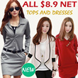 ALL At $8.9 Net New summer autumn winter comfort lace chiffon cotton Dress/Top/Blouse/Cardigan/Legging