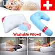 [Linder Swiss] Washable Pillow Micro Air Ball Body Pillow Micro Beads Side Pillow For Your Deep Sleep
