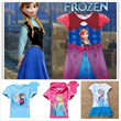 Hottest!Frozen Elsa/Anna Girls Tee Shirt/Dress/Party Wears