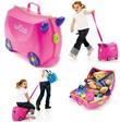 Trunki Style Kids Luggage/Trolley wheel Children Suitcase Toys Storage Bag Organizer/Kids Travel/School/Christmas birthday gift