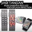 JAM TANGAN IRON SAMURAI RED LED/TOKYO FLASH INFECTION**UNISEX**