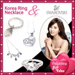 Eyo Jewelry Hot Product Swarovski Korea Ring and Necklace(Cin-cin Kalung)