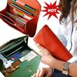 *HOT SELLING* Korean Simple Basic Leather Women Envelope Fashion Passport Smartphone Multi Card Wallet Clutch Bag Pen Holder