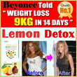 Beyonce Master Cleanse Diet(7 days)/Lemon Detox Diet/slimming/Fat burner/Fat buster/shoes