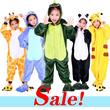 U122 Childrens cartoon children Siamese pajamas / Green dinosaur / animal / childrens pajamas.