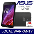ASUS 7inch MeMO Pad 7 (ME70) Android Tablet !!!  Intel® Atom™ Multi-Core Z2520 Processor 1.2 GHz with Intel Hyper-Threading Technology / 8GB ROM / 1GB RAM / Local Warranty !!!