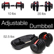 [Local Delivery]★Adjustable Dumbbell Set dumbbells ★New Iron Adjustable Dumbbell kit set/ muscle exercises / weight training / home gym exercise fitness