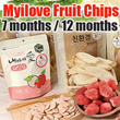 ★Fruit Chips Strawberry/Apple★12months/7months/Nutitional/Snack/baby cookies/Low-pesticide/gobiz-104