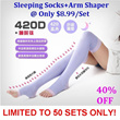 Japan 420D Slimming socks+Arm Massage Shaper Set!