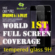 [ORIGINAL BENKS] Complete iphone 6 / 6 plus FULL Screen coverage 9H 0.3mm tempered glass Magic OKR+ PRO Expert protector scratch resistant and shatterproof