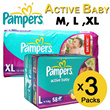 Pampers Active Baby Diapers (Bundled 3 Packs)!