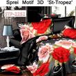 SPREI DAN BED COVER ST-TROPEZ ANEKA MOTIF 3D★★TERSEDIA 4 UKURAN★★ PABRIK SENDIRI