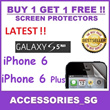 ♣BUY1GET1FREE♣Screen Protector For iPhone 6 iPhone 6 Plus S5 Note 3 Redmi 1s RedmiNote Mi4 iPad iPad Air