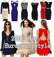 2015 new arrive european style Festive Dress/Chinese New Year Dress/Work OL Dress/Casual Red Dress