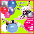 5Color+5 Size/Swiss Ball 900grams/ Peanut Balance Ball [+Foot Pump] / Gym Ball/ Yoga Ball ★at $16.90 (Worth $41)/Yoga Mat
