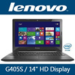 Latest Lenovo IdeaPad G405S Notebook  14inch HD Display AMD A4-4500 Quad-Core / 500GB HDD / 4GB RAM