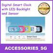 ♣Local Seller♣ Smart Digital Alarm Clock with Big Screen LED Backlight and Sensor Control