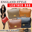 England Style Leather Bag Made of Durable Synthetic Leather [5 Colours] [Adjustable Starp Included]