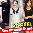 ★Free Shipping★see-through mini Dress Plus size S-XXXXL / Korean and Japanese Trend Fashion/women dress/Sexy party/Short/Sleeveless/Linen/Cotton/chiffon/lace