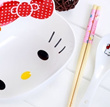 Cute hello kitty ceramic bowl of instant noodles / instant noodles bowl large microwave soup bowl with spoon