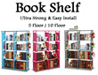 New Update▶Ultra-strong load-bearing book shelf◀GDA-Easy install and use/ Water resistant non-woven fabric/ 3 colors/ 5 floor book cabinet