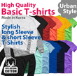★High Quality Basic Colorful T-Shirts★Urban Style Casual T★made in Korea★
