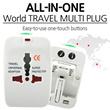 [Multi Plug]All-in-one/ Travel Multi Plug Universal Adaptor Multi Plug with Socket AC Power Socket Travel Adapter Convert/double plug/ UK/SG/MY/Asia/Africa/America/Europe