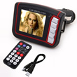 New LCD Car MP3 MP4 1.8 Player FM Transmitter SD/MMC#8313