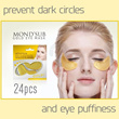 BEST SELLER!!24pcs [MOND SUB] 24K GOLD COLLAGEN EYE MASK - BEST QUALITY BRING REAL YOUTH-