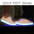 2014 HOT Shoes Men/Womens Simulatin LED Shoes Yifang Wan X Samuel Yang USB Charge 7 Colors Light Leather Sneakers Club Shoes women fashion Couples Shoes michael kors denim