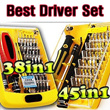★New Portable Best driver Set ★ 38 in 1 / 45 in 1★ Multi Screw Drivers Best Price!!