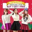 【SG Delivery】【 Limit 100 Set Only】BUY 1 GET 1 FREE 2015 Spring Festival Tempur Skirt 6 Styles【FREE SHIPPING】Limited time offer